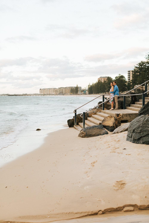 Stormy Summer Glenelg Beach Engagement Portrait 012.jpg