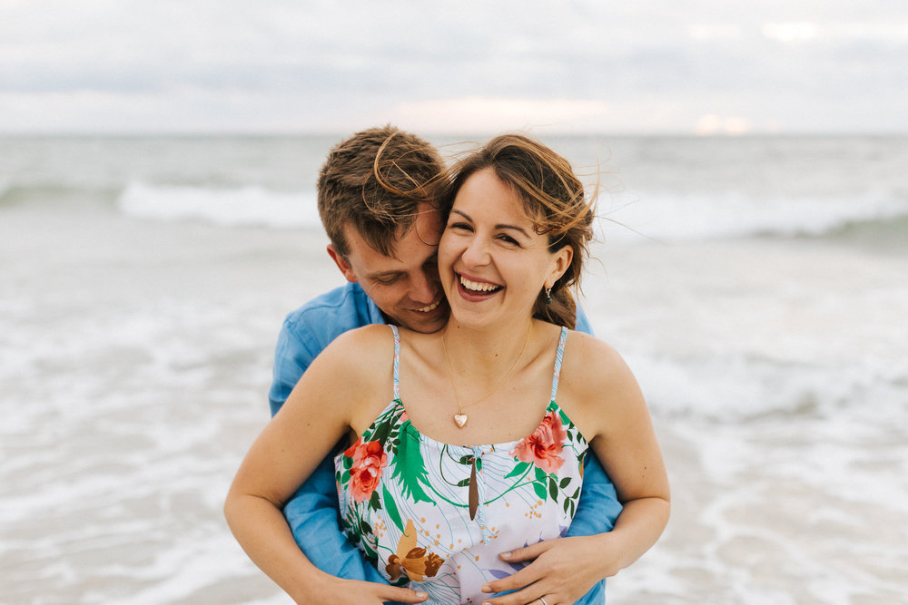 Stormy Summer Glenelg Beach Engagement Portrait 014.jpg