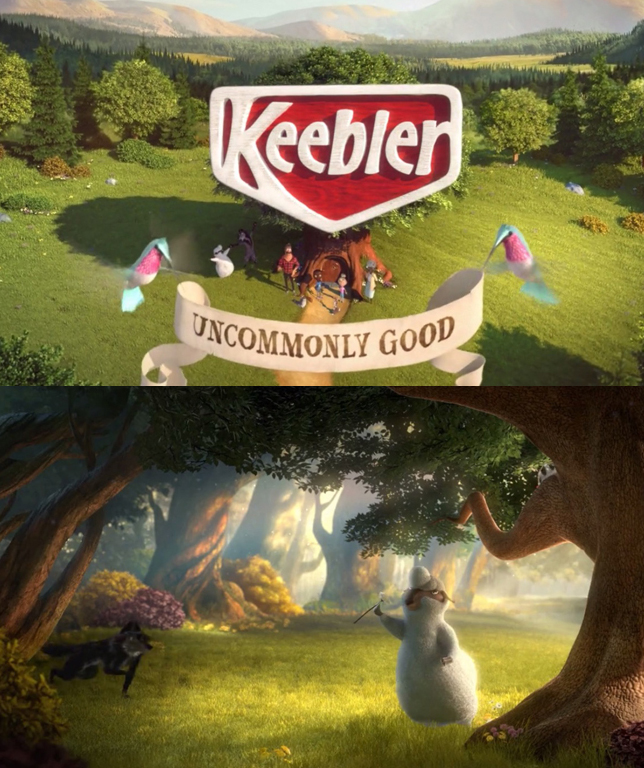 Keebler Uncommonly Good - Grass and Ground Layout/Shading for Buck in Los Angeles.watch >