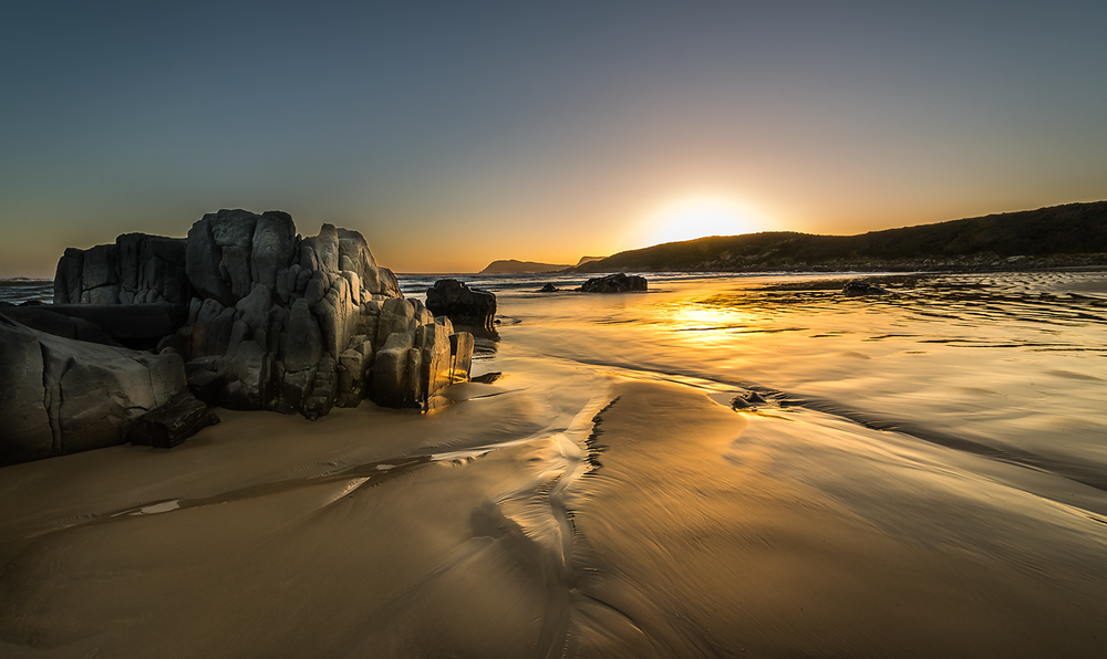 Middle Bay Sunset 2 - Bruny Island - Tasmania - Wilkography