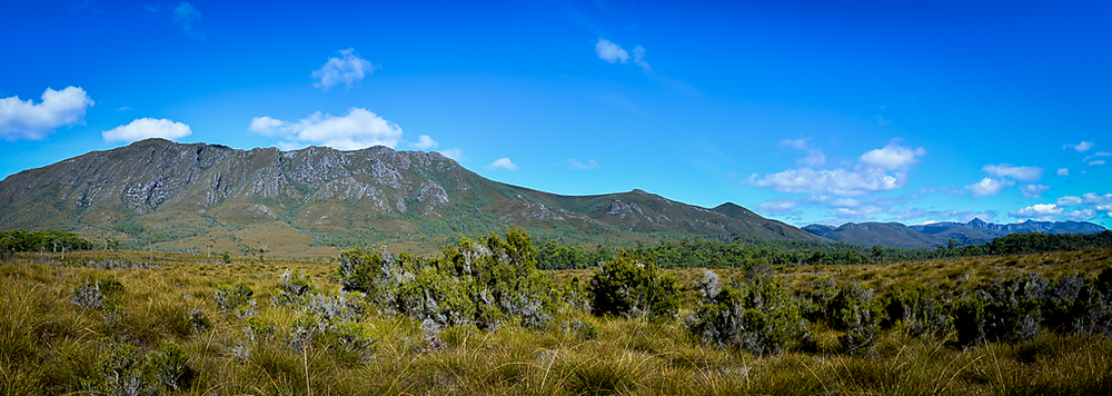 Denison Ranges Panorama - South West Tasmania - Wilkography