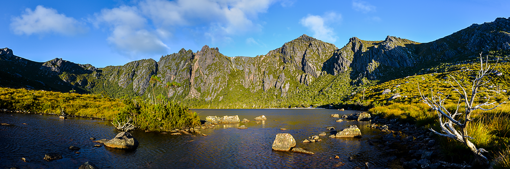 Lake Rhona Sunrise Panorama #1 - South West Tasmania - Wilkography