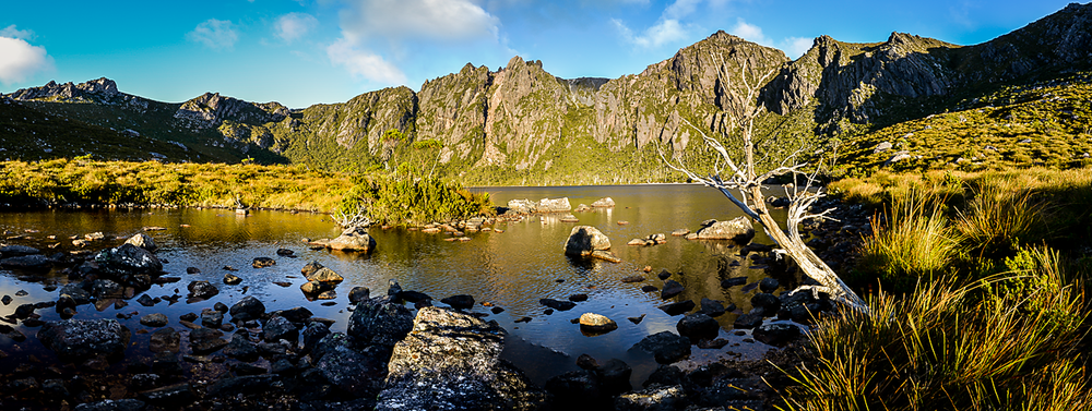 Lake Rhona Sunrise Panorama #2 - South West Tasmania - Wilkography
