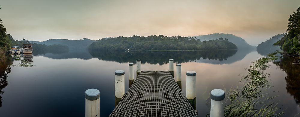 Pieman River Panorama - Western Tasmania - Wilkography