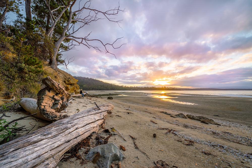 Daniels Bay Sunset 2 - Bruny Island - Tasmania - Wilkography