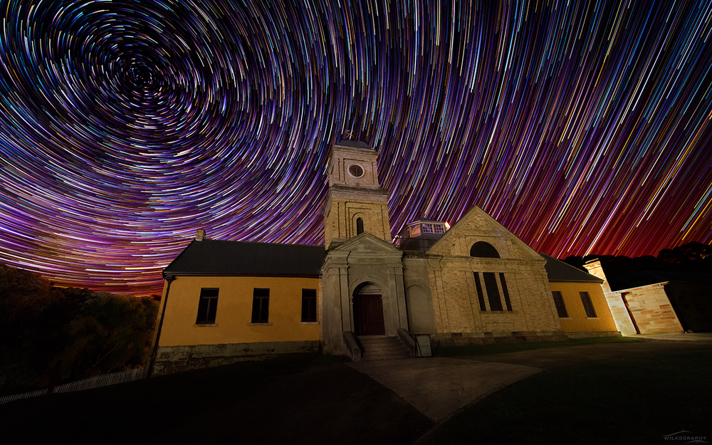 The Asylum & Comet Star Trails #14