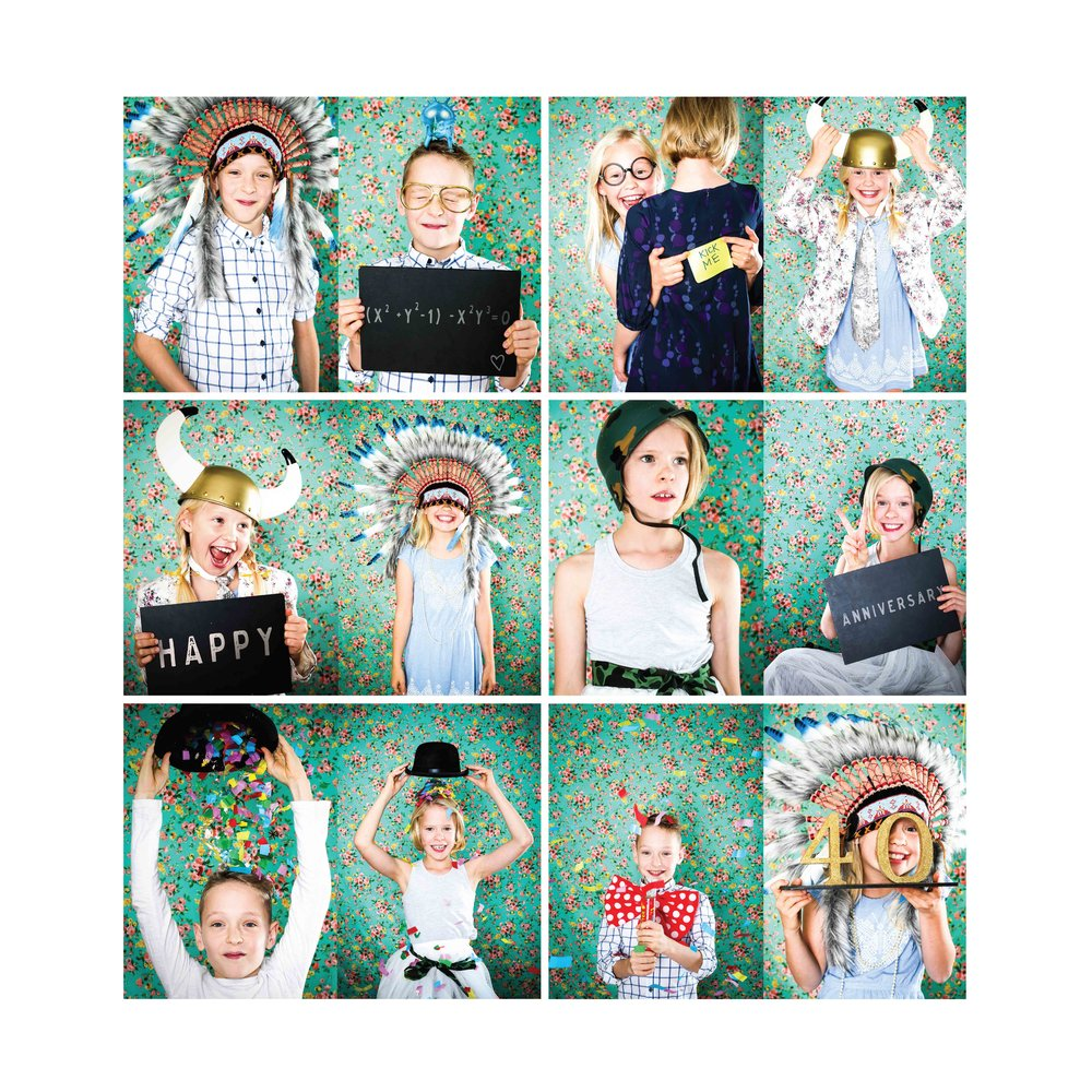 """Wow, what a great experience we've had with Hipster Diptych! We got exactly what we wanted, shots that reflect our children's personality, energy and all round sense of fun.       The kids were really relaxed (I think it was the release of Sophie's inner child that did it!) and were immediately rummaging around the props cupboard with Tamsin. The shoot seemed to go really quickly and they had a blast.       Selecting the pictures was so difficult because there were so many that were perfect. We ended up with a USB so we could reprint at our leisure but we wanted something for a special occasion. Sophie & Tamsin worked on a collection of pictures and provided us with a framed print which was a composition of 12 that worked really well together and really captured the kids as kids.       If you're after shots of your kids that aren't contrived or overly formal I would really recommend Hipster Diptych. Sophie and Tamsin really get it!""  Michelle"