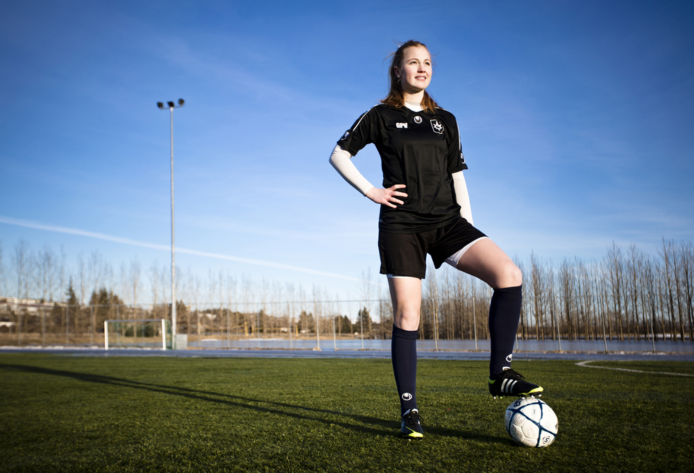 Glódís Perla, an Icelandic footballer  who plays as a  defender  for  Stjarnan  and the  Iceland national team .