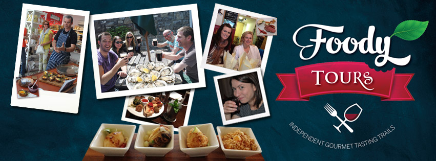 Check out our sister company, Foody Tours for independent gourmet tasting tours in the West of Ireland. Experience some of the best food destinations on the Wild Atlantic Way and have a wonderful night out. Great food, drink, company and craic! Private tours also available. See https://www.facebook.com/FoodyTours
