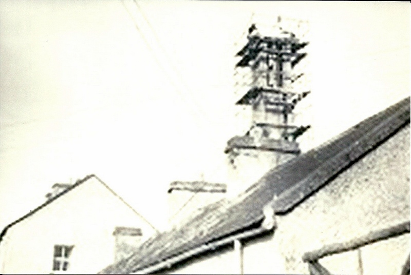 Church tower under construction