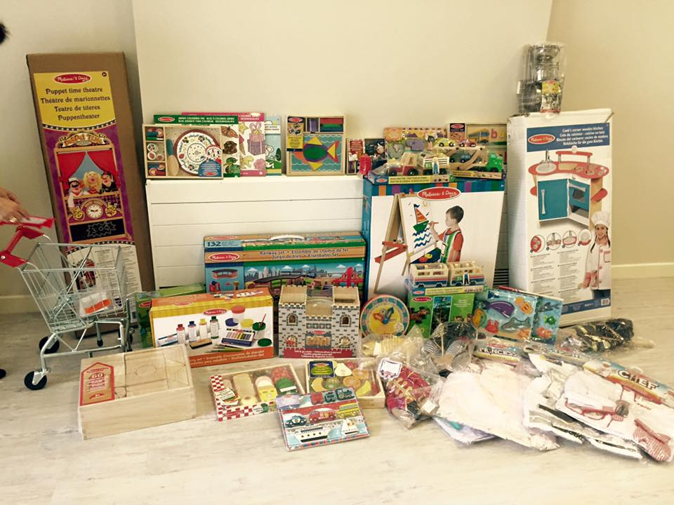 We are so grateful for the amazing array of gifts sent to us by Melissa and Doug, Thank you!
