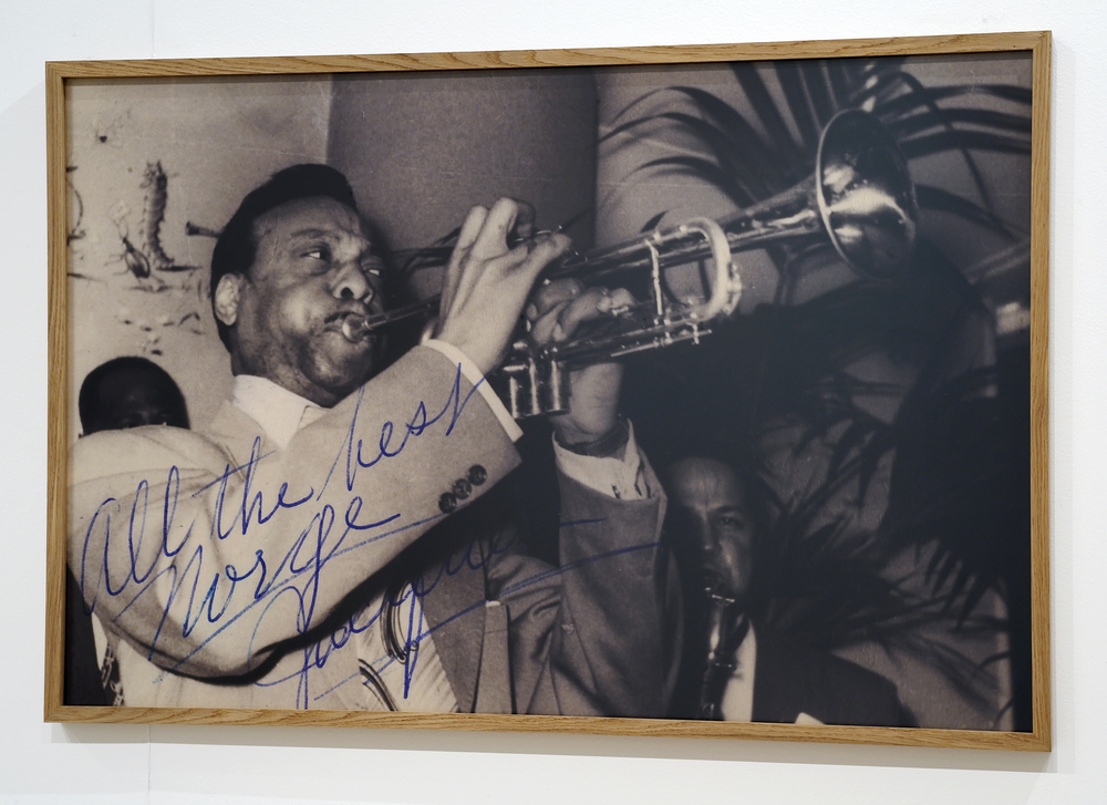 """""""All the best Norge – Jacques"""" digital print, 83 x 124,5 cm (Photographer unknown, source: Norwegian Jazz archive)"""