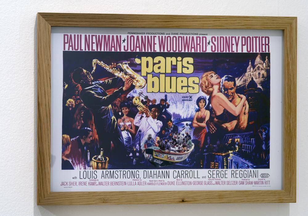 """""""Paris Blues"""" collage, 29,5 x 41 cm"""