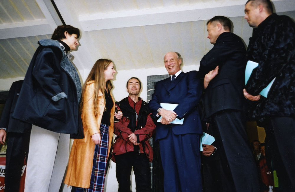 Andrea Lange with HM King Harald at Kunstneres Hus