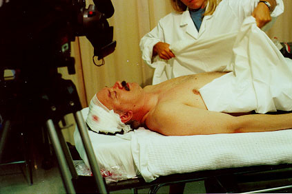 "Hospital scene in the 1999 feature-length movie, ""Great Awakening""."