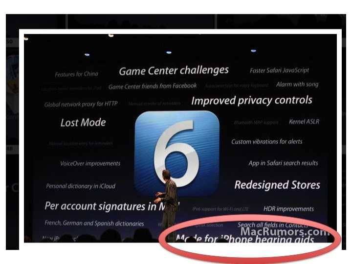 Just a tiny note in the bottom right corner of the iOS6 release features.