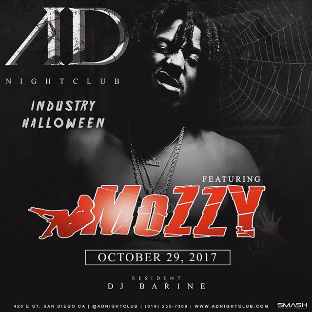 TONIGHT❗️❗️Join us for the final #IndustryNight at #AdNightclub featuring @mozzymemba 🍾 The first & the best #hiphop club in #SanDiego! We're going out with a bang... #AD #IndustryHalloween #Mozzy #FvckMondays