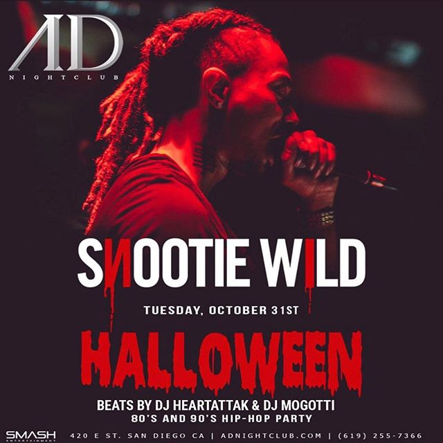 ANNOUNCEMENT❗️❗️ Tomorrow night 10/31 join us for the FINAL NIGHT of #AdNightclub. As we say farewell to the #1 #HipHop Nightclub, we had to go hard one last time... Featuring performance by @snootiewild, hosted champagne until MIDNIGHT, @djheartattak, @djmogotti and your favorite #squAD members. Tickets available NOW! #AdNightclub #SnootieWild #AD #ADonHALLOWEEN