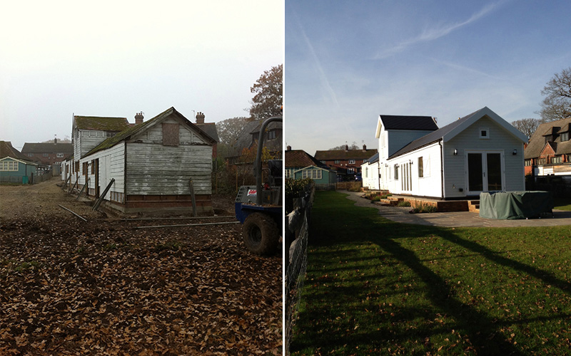 Stables before and after
