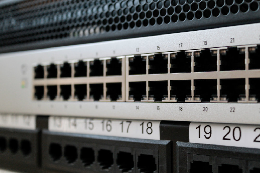 Unify CAT6 Data Switch and Patch Bay Installation