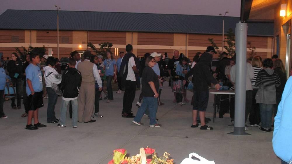 Homecoming Crowd showing up en masse early.JPG