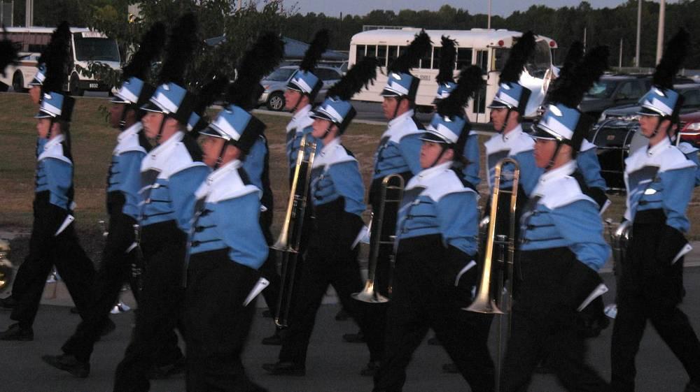 The RAM Band in Homecoming Parade.JPG