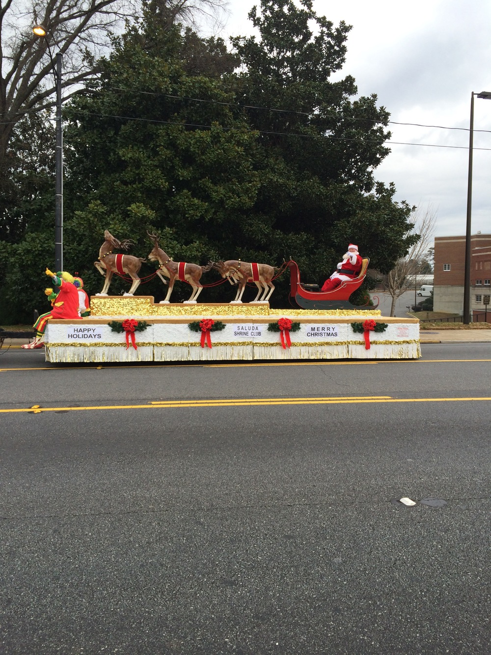 Santa visits the 2013 Shriner's Parade
