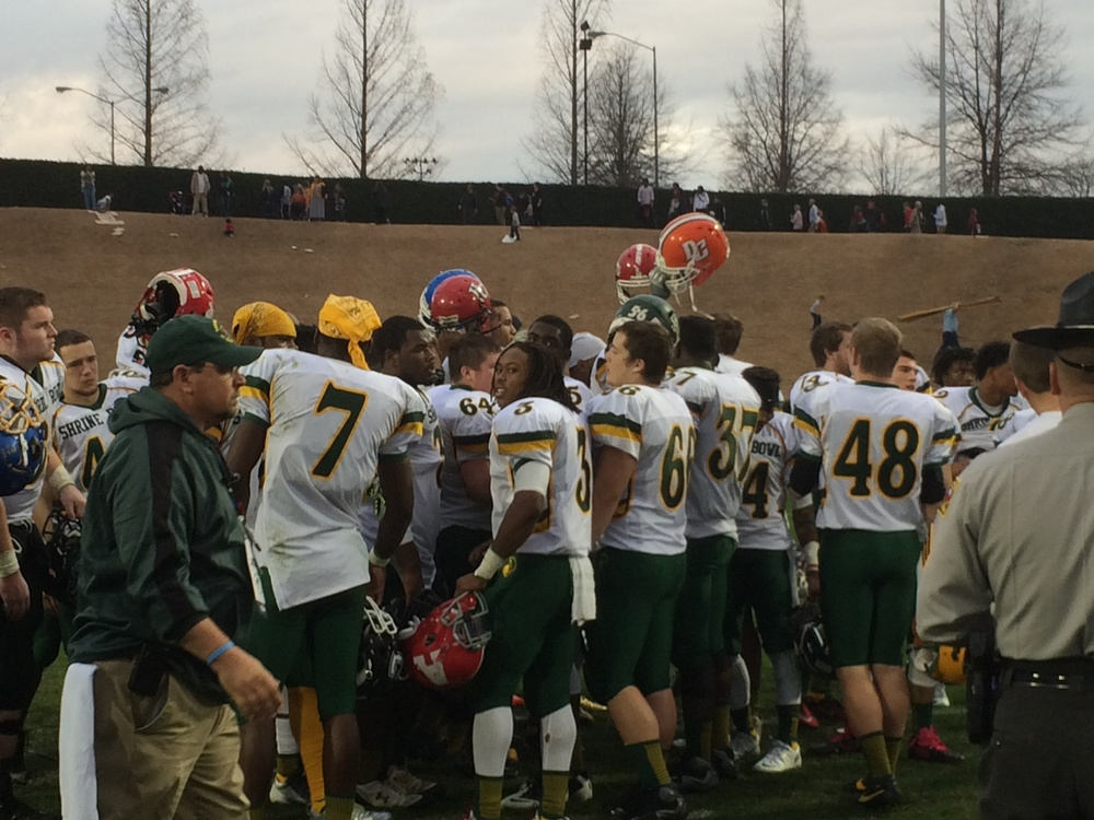 Postgame - 2013 Shrine Bowl of the Carolinas