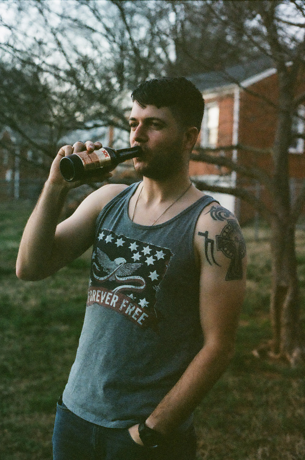 Charlotte-NC-man-drinking-beer