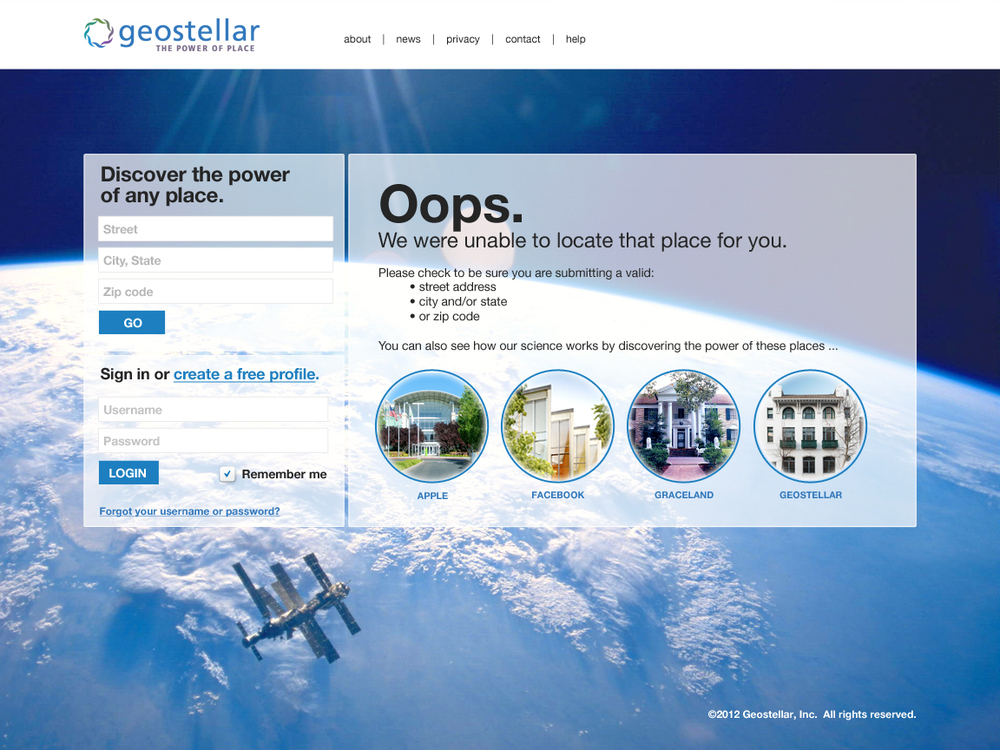 Address error page v2.1