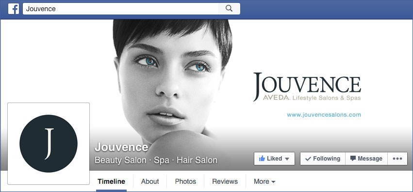 Click to visit Jouvence Salons Facebook page.