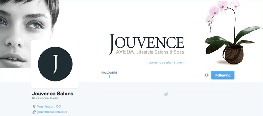 Click to visit Jouvence Salons Twitter page.