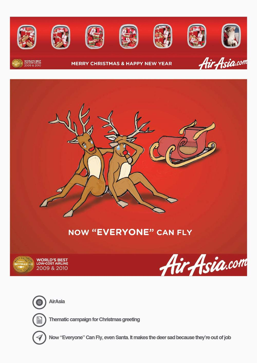 AirAsia Thematic campaign for Christmas greeting