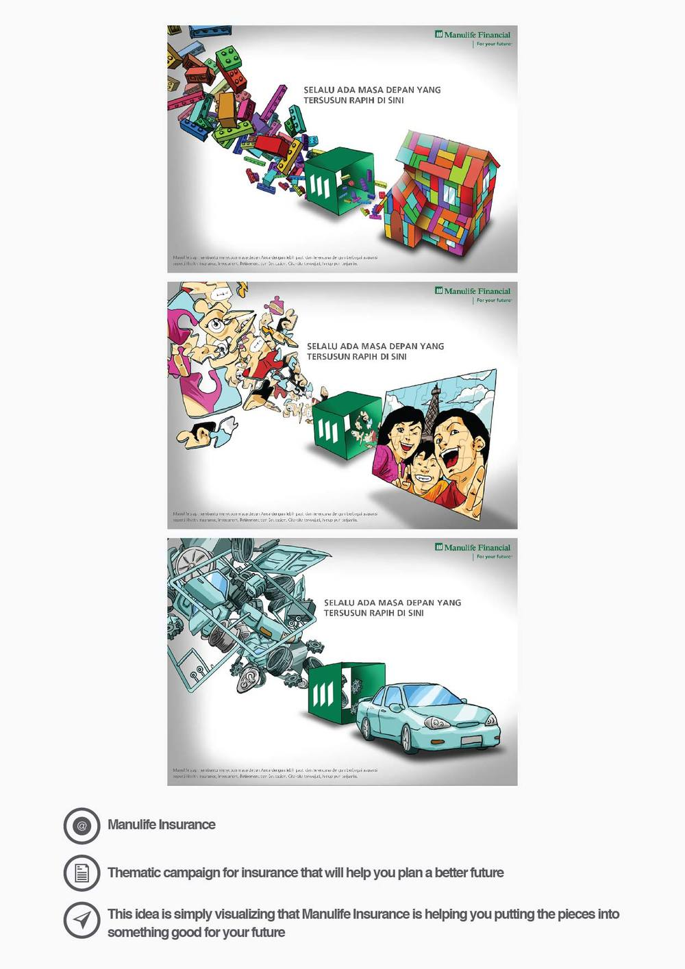 Manulife Insurance Thematic campaign for insurance that will help you plan a better future