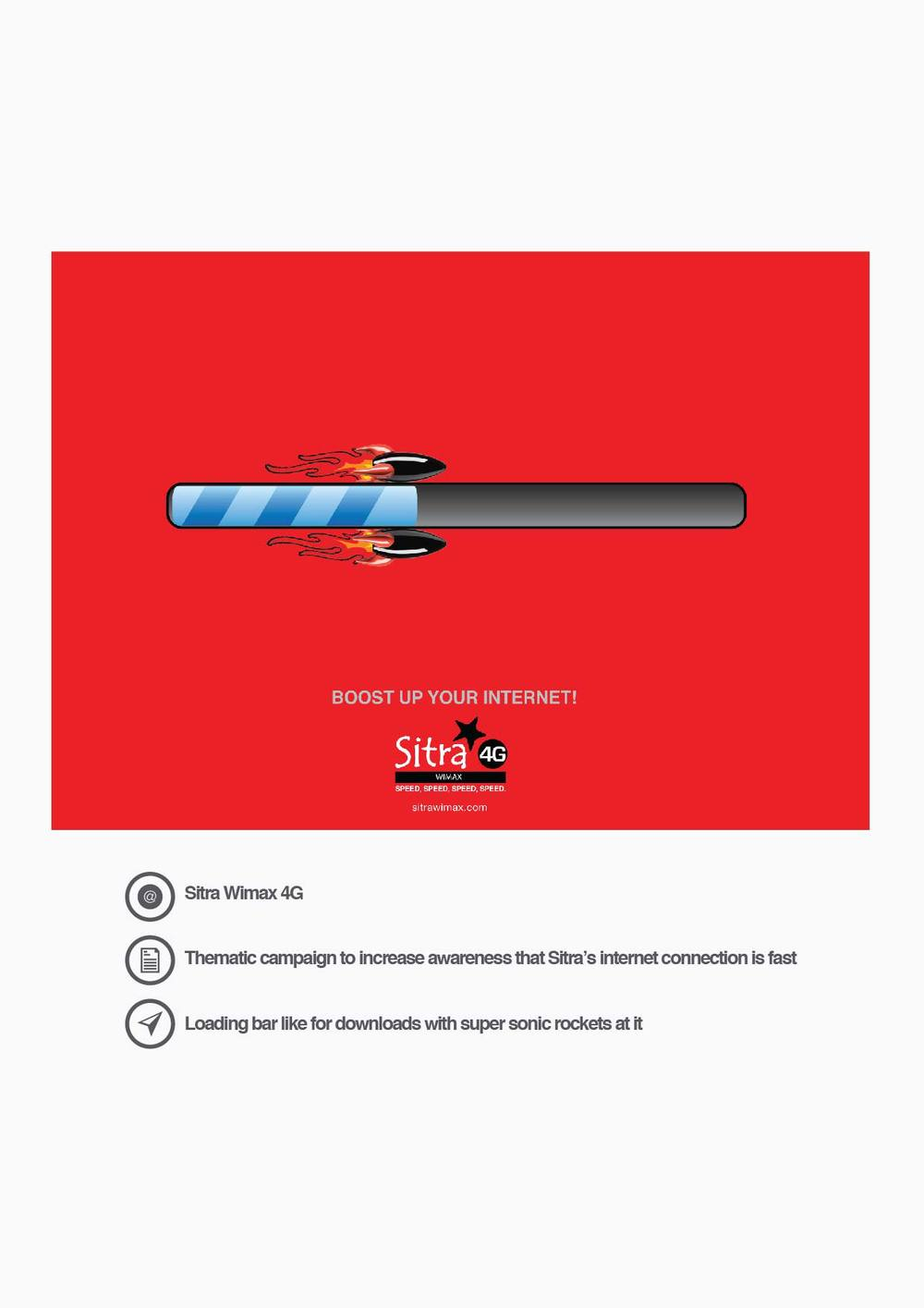 Sitra Wimax 4G Thematic campaign to increase awareness that Sitra's internet connection is fast