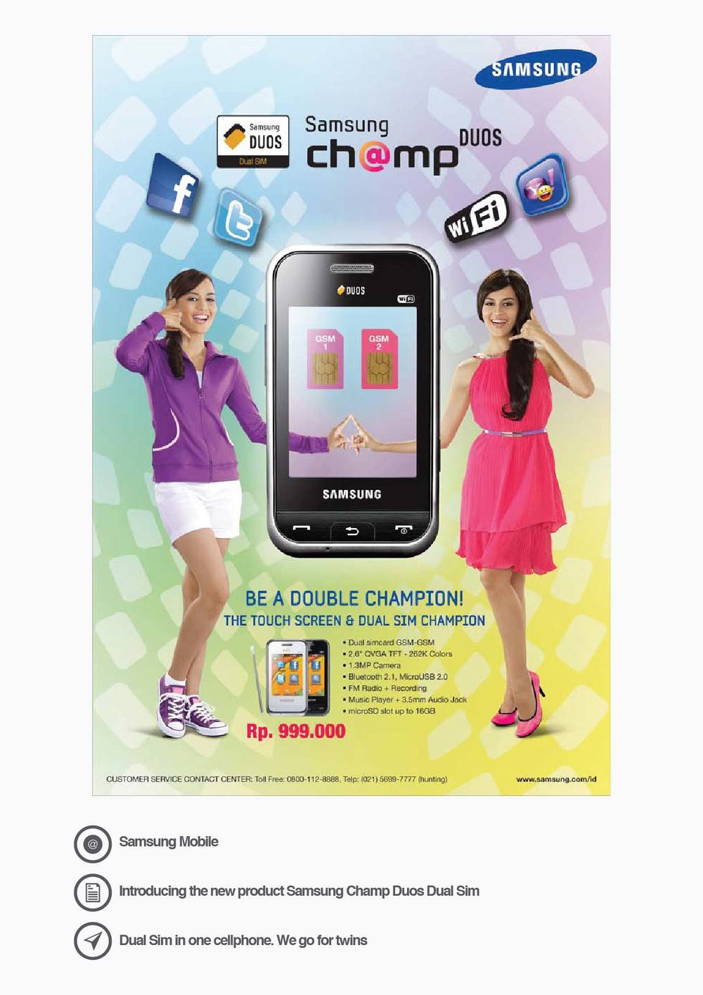 Samsung Mobile Introducing the new product Samsung Champ Duos Dual Sim