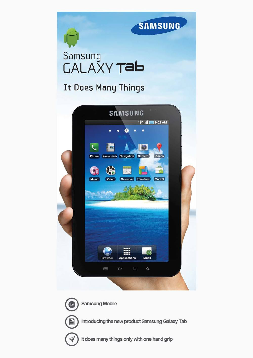 Samsung Mobile Introducing the new product Samsung Galaxy Tab