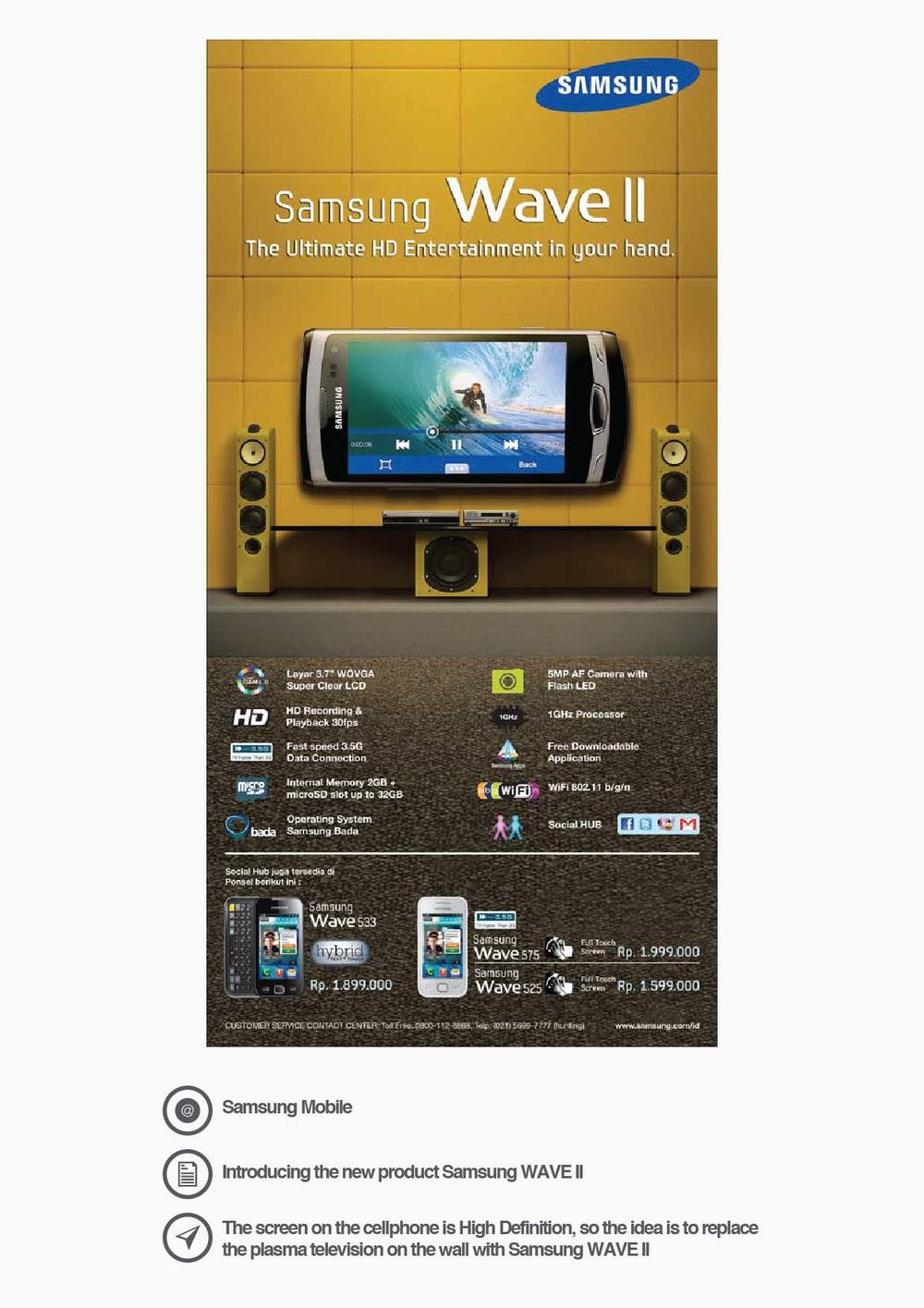Samsung Mobile Introducing the new product Samsung WAVE II