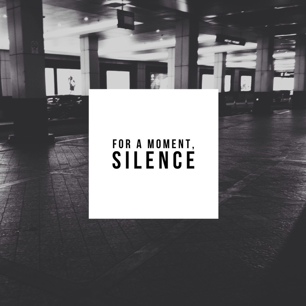 for a moment, silence - marche la void