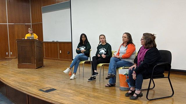 Thank you to our lovely panelists for a great discussion at Period. End of Sentence. as part of The Period Project. #kentstate #kentstateuniversity