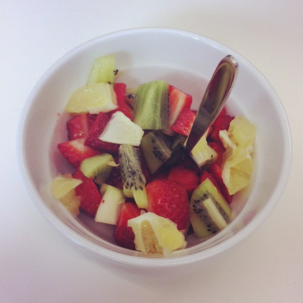 Op dieet staan is vervelend? No way... Toch niet met zo'n fruitslaatje :-)