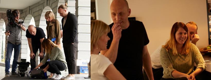 Op de shoot van de juwelenactie met Hanne Troonbeeckx