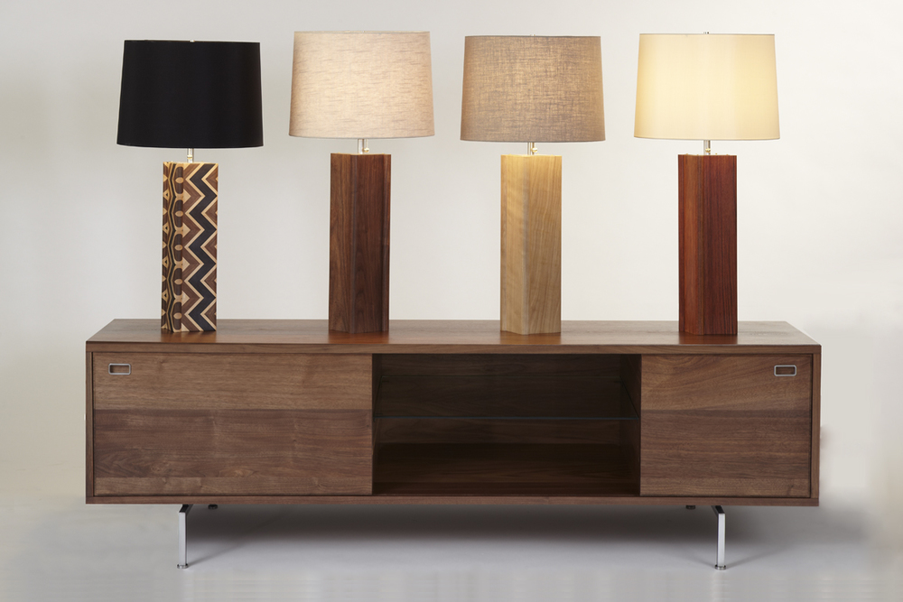 Left to Right: Dark Chevron, Walnut, Quilted Oak, Jatoba.
