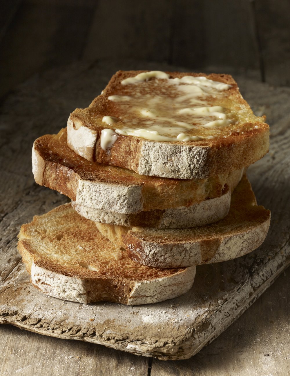Buttered toasted overnight white bread for Ori Hellerstein: Artisan Baker