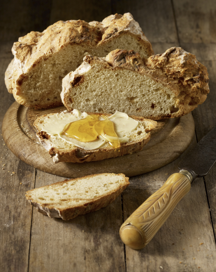 Soda bread with butter and honey for Ori Hellerstein: Artisan Baker