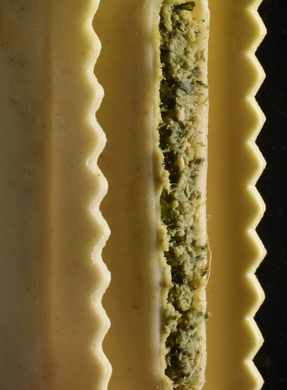 Spinach and ricotta filled pasta