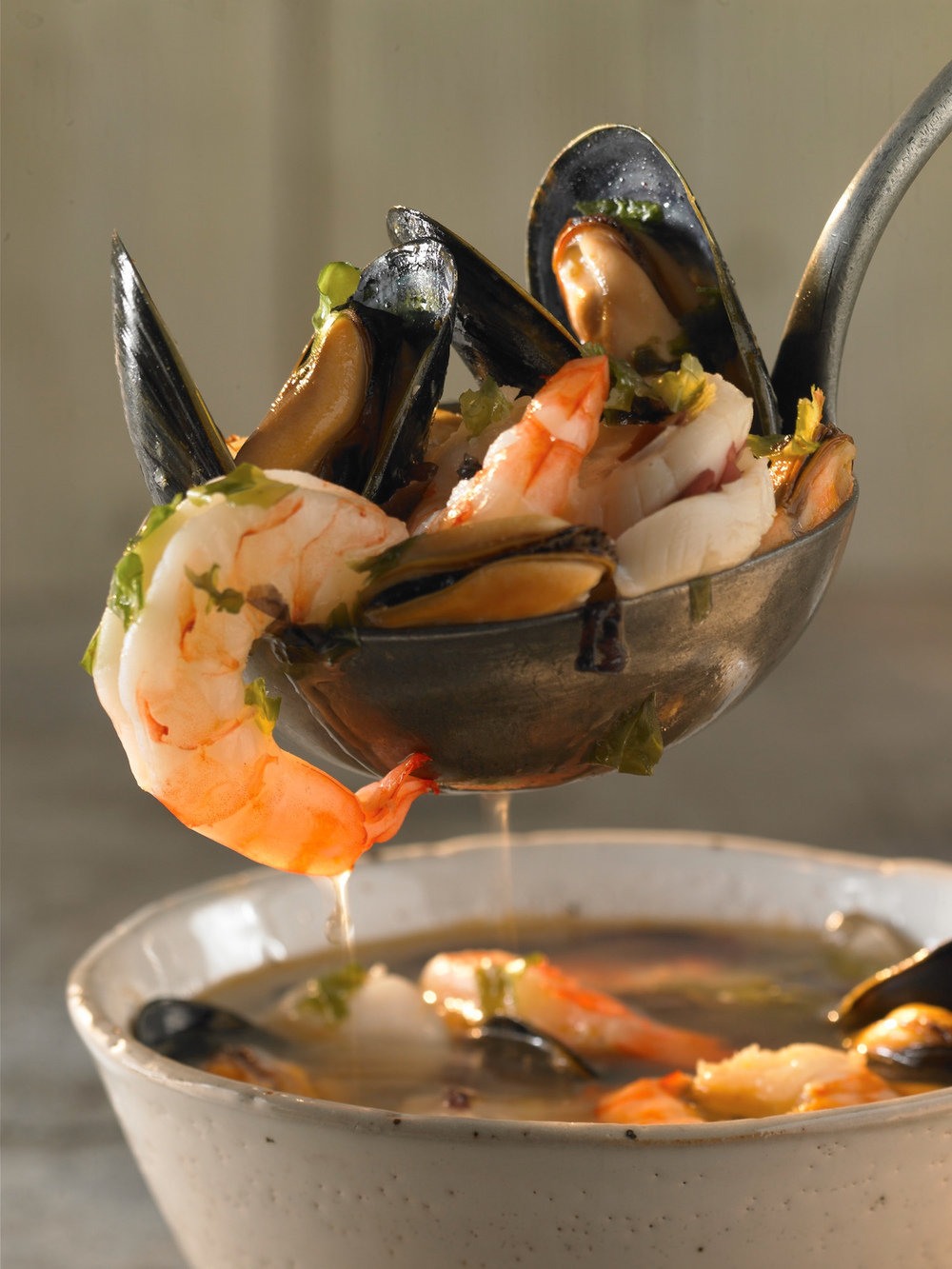 Seafood broth for Style magazine