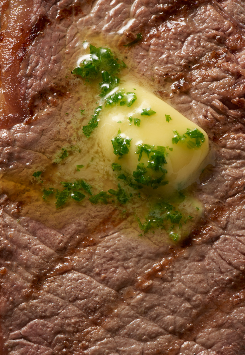 Steak with parsley butter