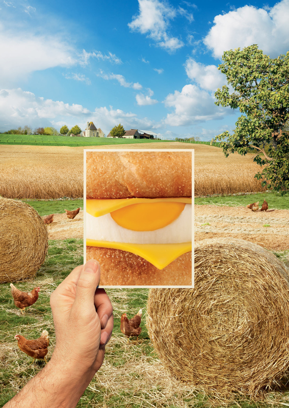 McDonald's Egg Mcmuffin for TBWA\France, Art Director Maud Poilpre, Food styling Anne-Clair Delphin