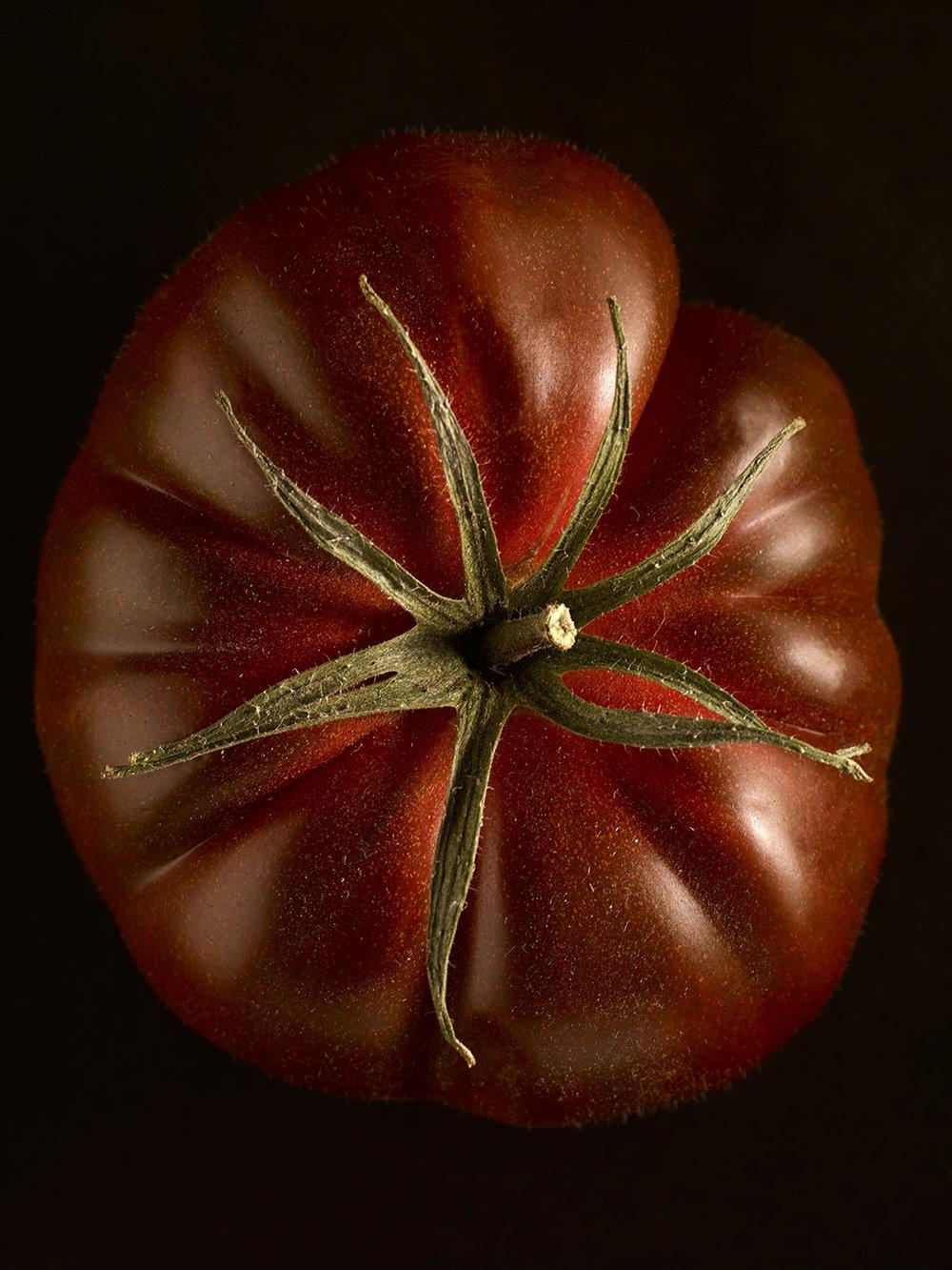 Dark red tomato